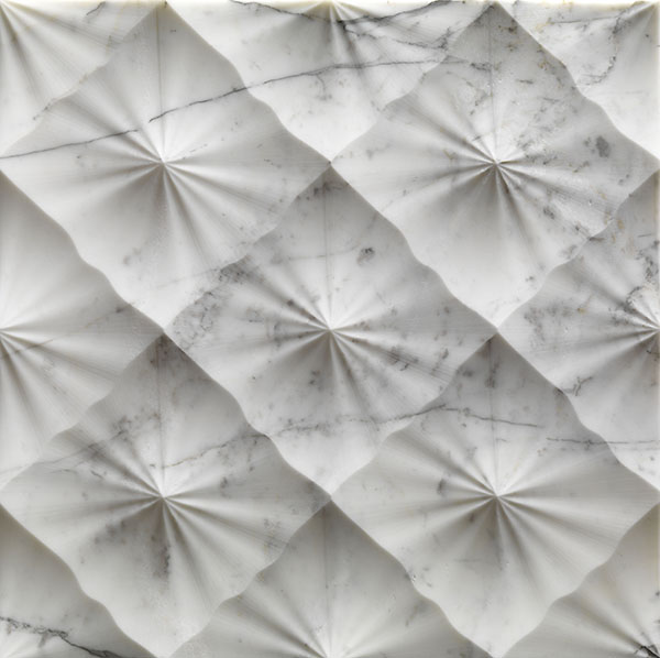 diamante textured marble wall