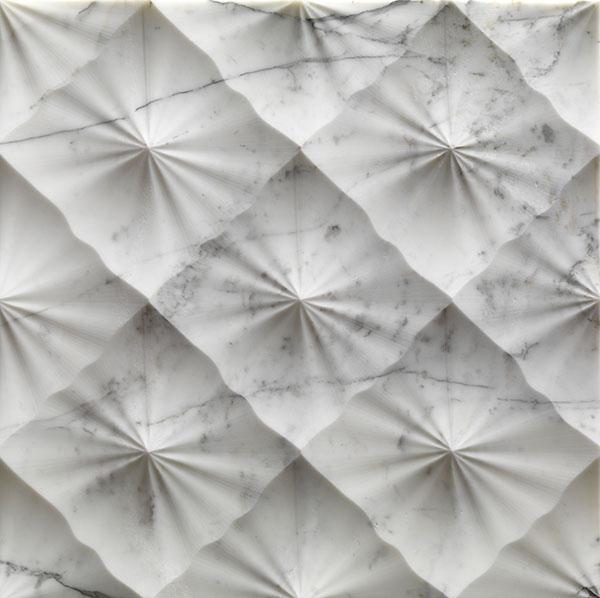 diamante textured marble wall