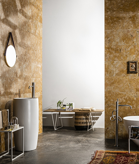 Cesello and Rilievo stone wall coverings