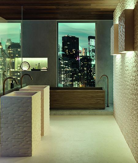 backlit wall tiles