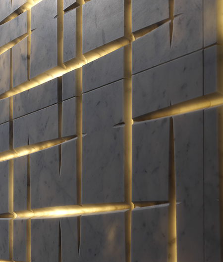 backlit wall textures