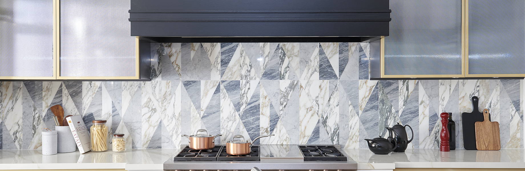 tangram patchwork design for marble interiors