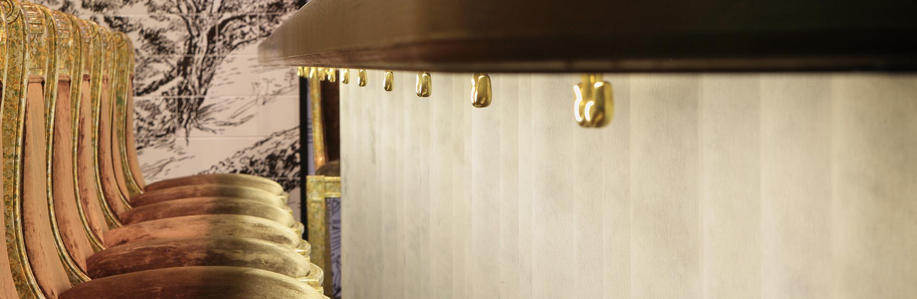 LithosDesign_aaltos_marble restaurant design_with_chiffon_stone_wall_texture