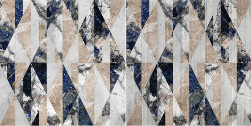 "Our ""tangram cosmo"" interior wall covering from the ""Opus"" collection"