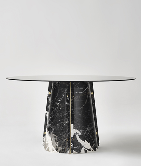 contemporary designer marble table