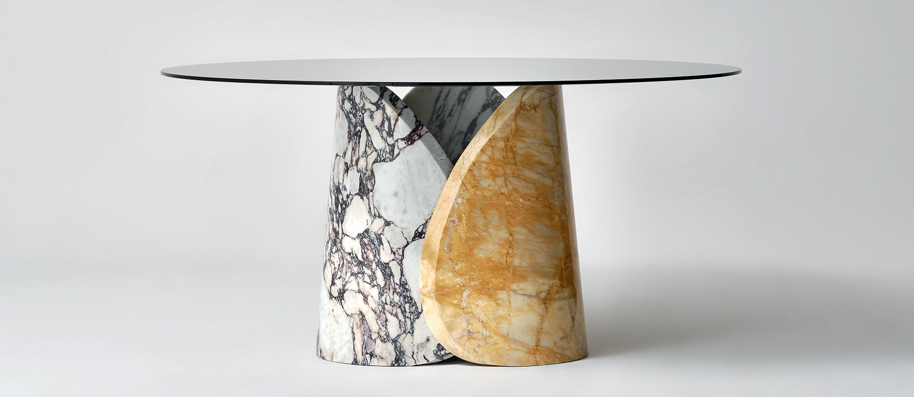 LithosDesign_petalo_giallo-siena_calacatta-viola_arabescato-vagli_designer_dining_tables_1_slider