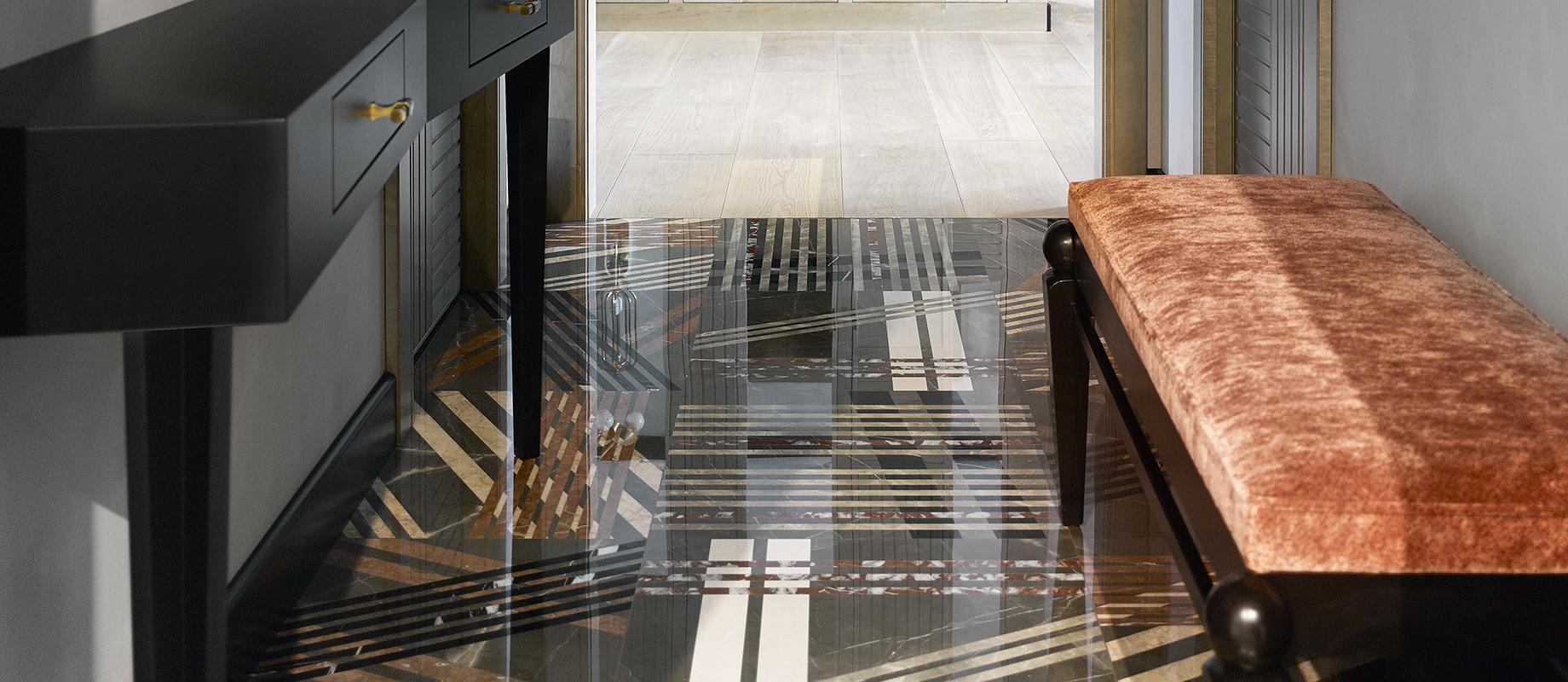 Lithos Design Mikado Luxusmarmorbodenbelag
